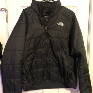 The north face puff jacket black men's large